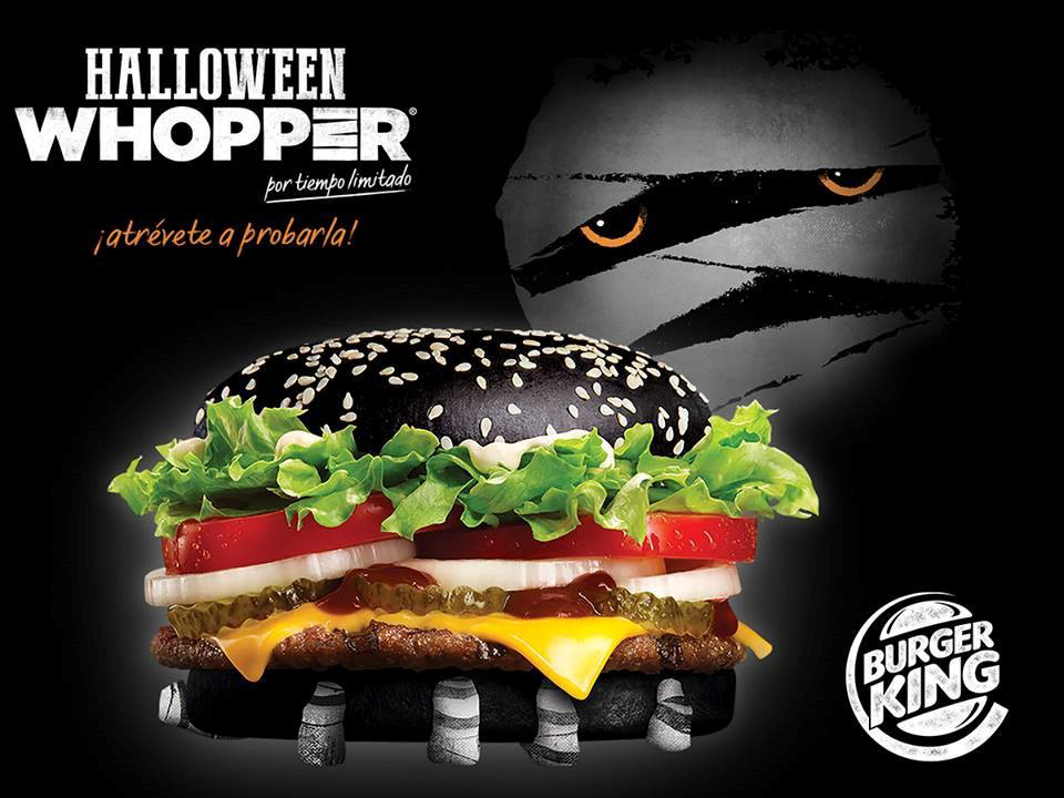 Burguer King y su hamburguesa de edición especial para Halloween