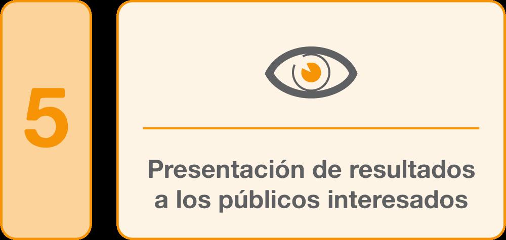5.Presentación de resultados a los públicos interesados